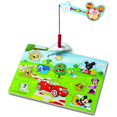 Melissa & Doug Disney Mickey Mouse Hide and Seek Wooden Magnetic Game: Melissa & Doug: Toys & Games