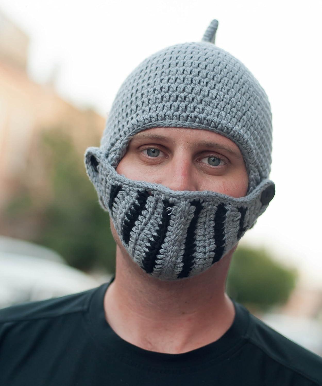 Crocheted Knight Helmet Hat Pattern