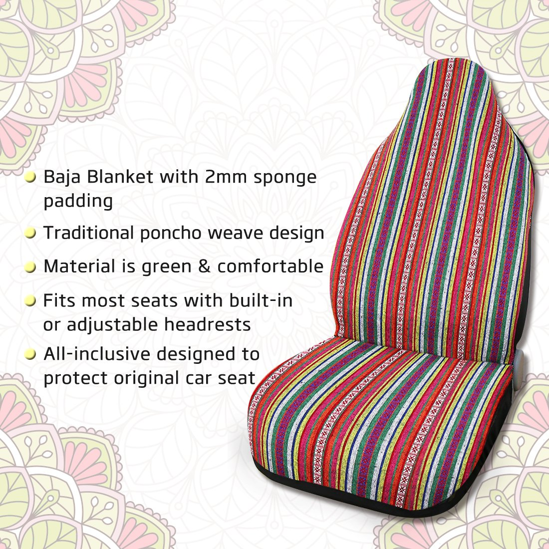 uxcell Universal Blanket Bucket Vintage Style Seat Cover for Car Automotive