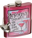 "Spoontiques Hip Flask, ""Girlfriends"""