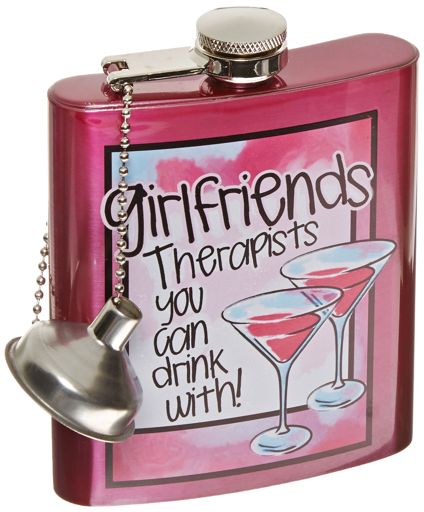 Spoontiques Hip Flask,''Girlfriends''