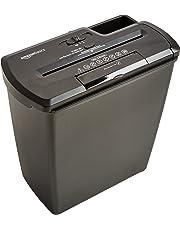AmazonBasics - Destructora de papel, tarjetas de crédito y CD con recipiente separable (corte recto, capacidad de hasta 8 hojas), negro