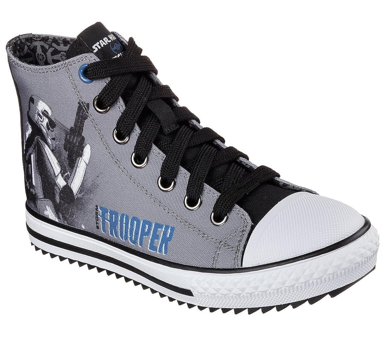 cebolla Día consumirse  Buy Skechers Boys' Star Wars Jagged Starfleet High Top Sneaker, Gray/Black,  US 5 M at Amazon.in