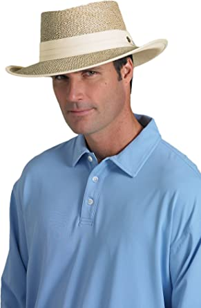 f0dcacbf Image Unavailable. Image not available for. Color: Coolibar UPF 50+ Men's  Golf Sun Protection Hat ...