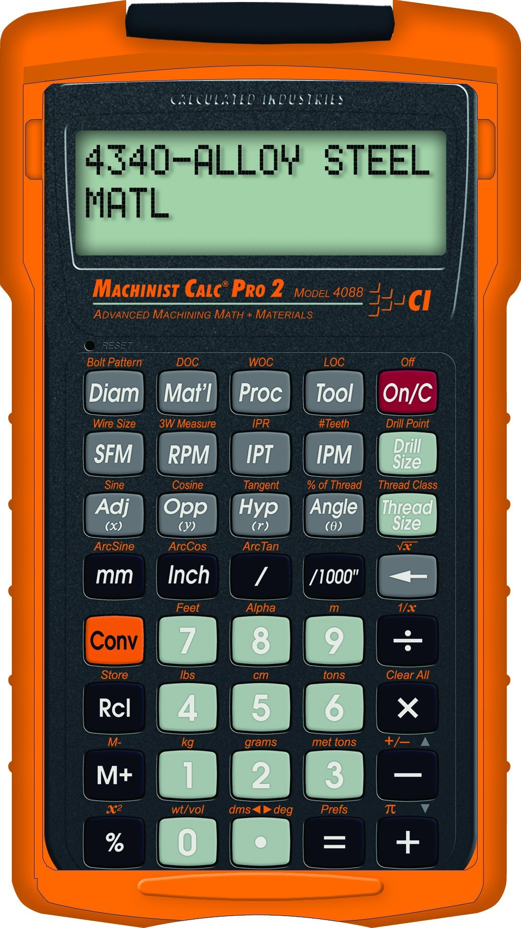 Calculated Industries 4088 Machinist Calc Pro 2 Advanced Machining Math with Materials (Renewed)