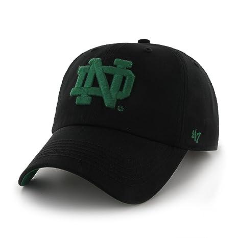 innovative design 57815 6c10d Amazon.com    47 NCAA Notre Dame Fighting Irish Logo Strapback Cap  w Leather Strap   Clothing
