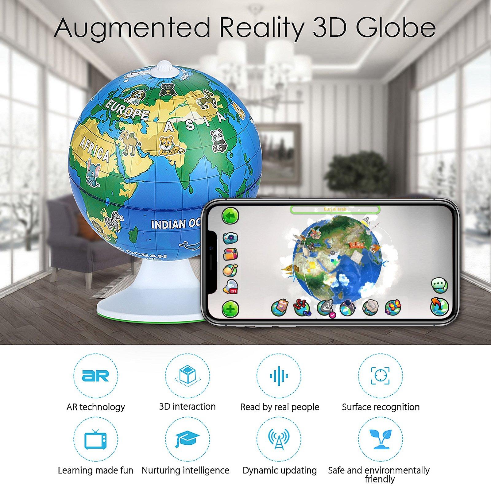 NeoBear Smart Interactive Globe Augmented Reality AR ...
