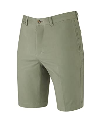 c58840b364c Savile Row Men's Flat Front Slim Fit Stretch Chino Shorts: Amazon.co ...