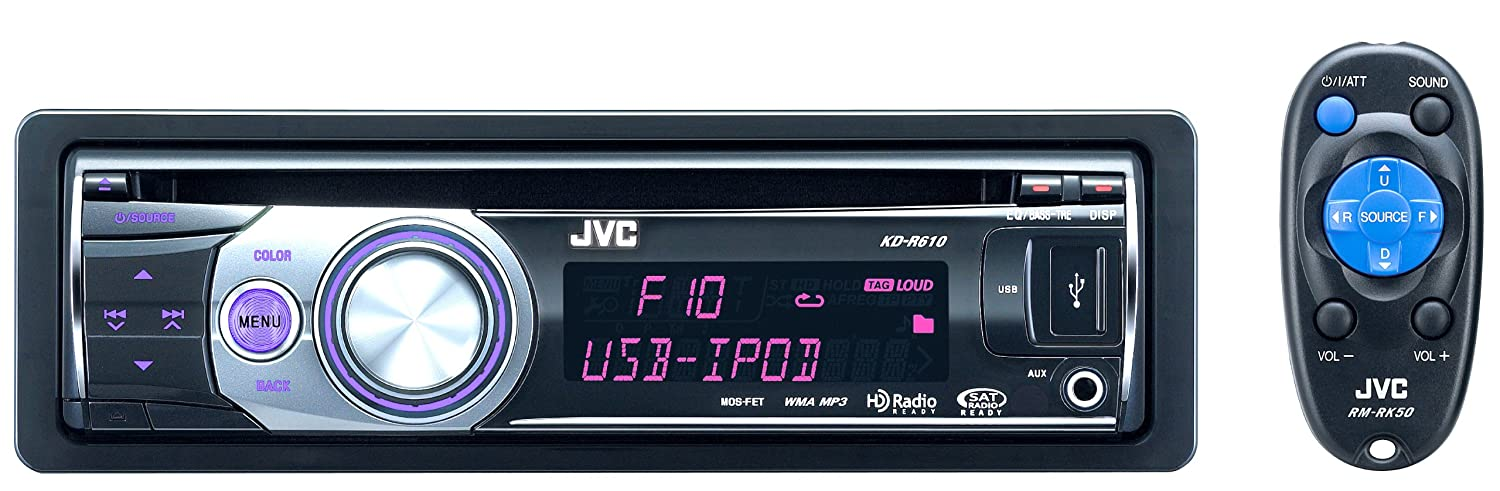 81HM7nvibSL._SL1500_ jvc kd r610 usb cd receiver w front aux, usb 2 0 port for ipod jvc kd r320 wiring harness pinout at pacquiaovsvargaslive.co
