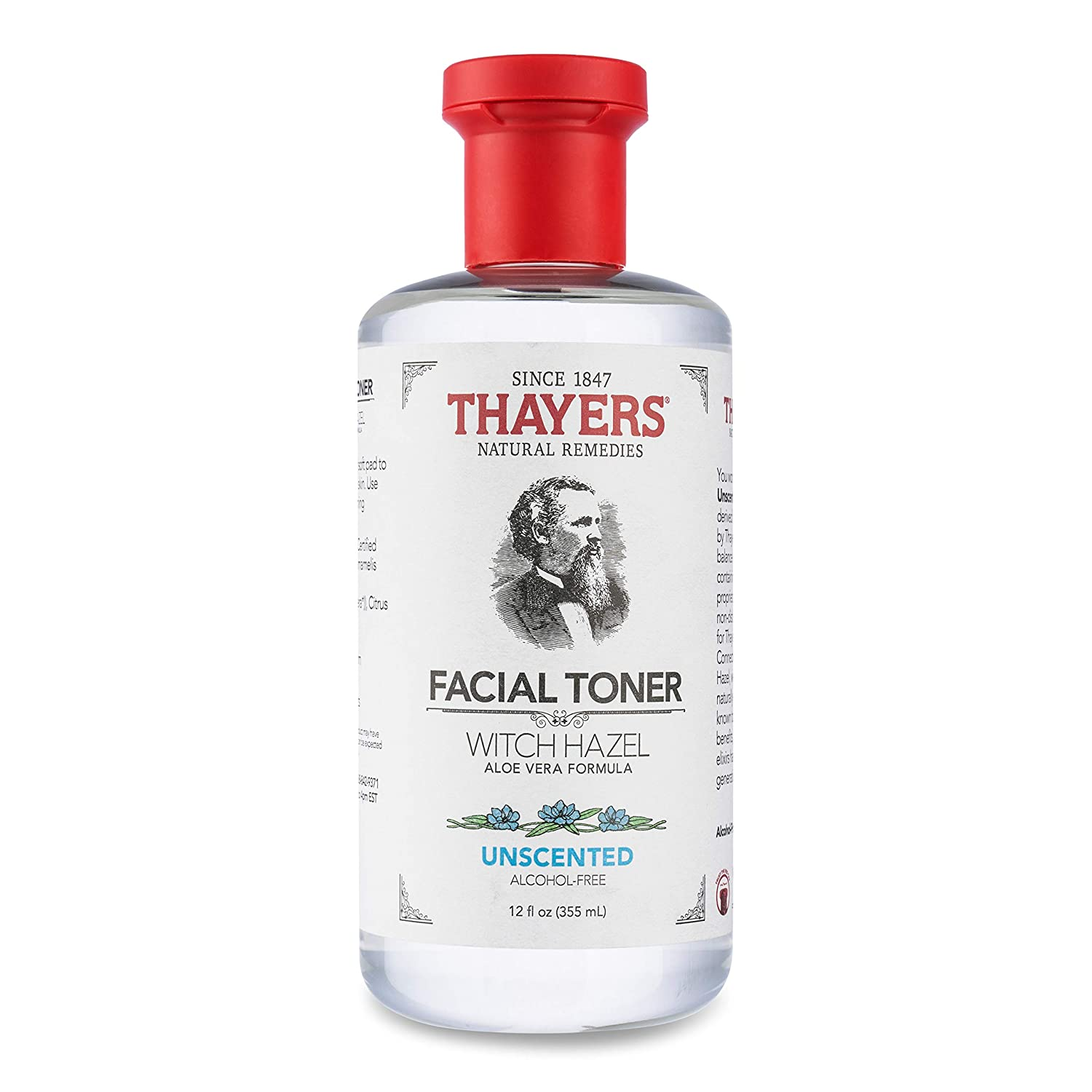 Thayers Alcohol-Free Unscented Witch Hazel Facial Toner with Aloe Vera Formula