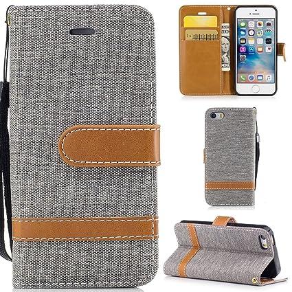 Ooboom® iPhone 5SE Hülle Stilvoll Flip PU Leder Handy Tasche Case Cover Schutzhülle Wallet Brieftasche Ständer für iPhone 5SE
