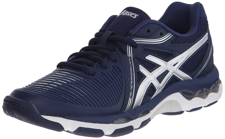 ASICS Women's Gel-Netburner Ballistic Volleyball Shoe B00R1X8NYO 6 B(M) US|Navy/Silver