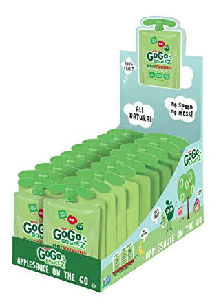 GoGo SqueeZ Applesauce on the Go, Apple Strawberry,: Amazon ...