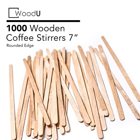 Coffee Stir Sticks Round End Eco Friendly Coffee Stirrers Dark Wood For Hot Drinks 7 Inches