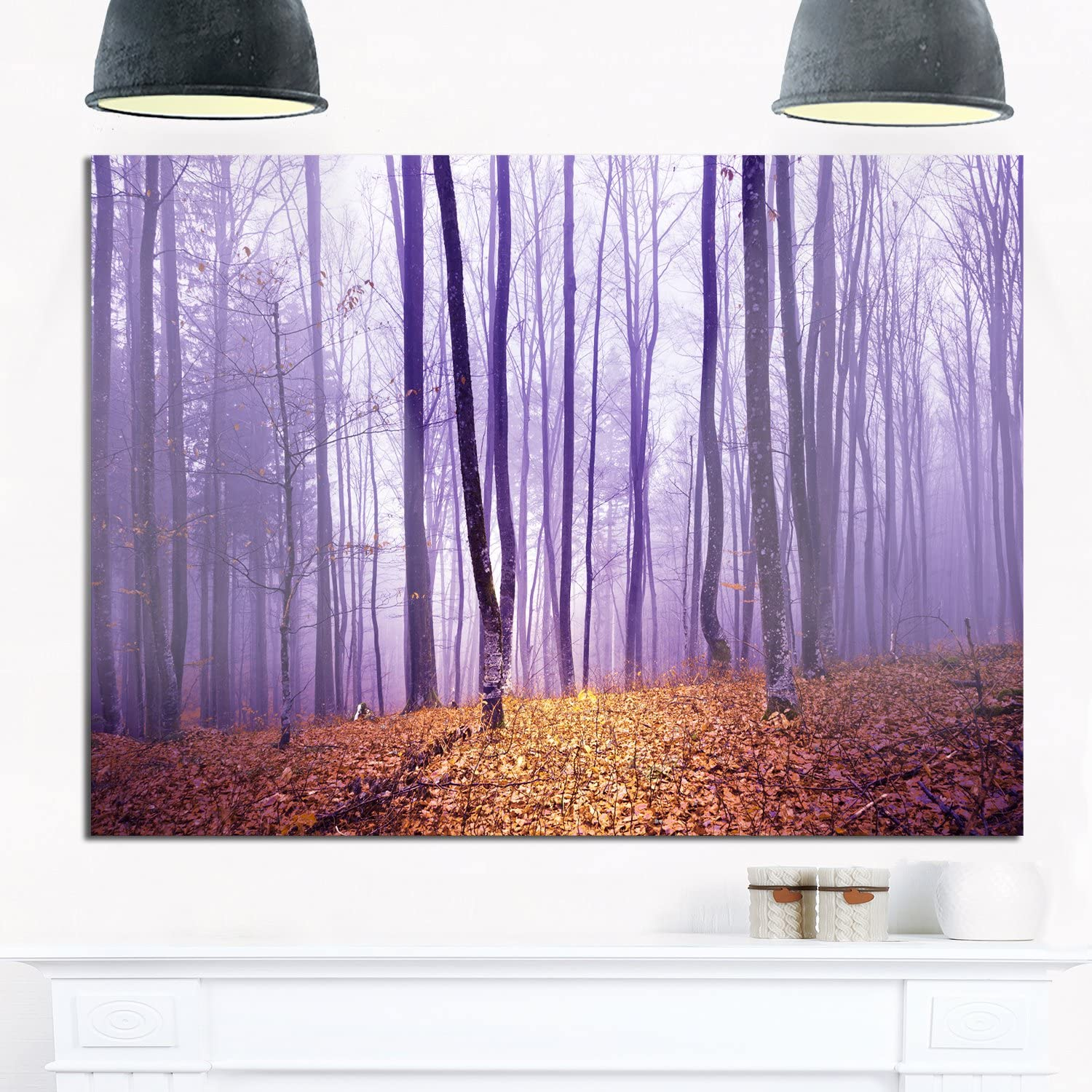 Designart MT14004-28-12 Magenta Foggy Max 69% OFF For Fairytale Forest Houston Mall Large