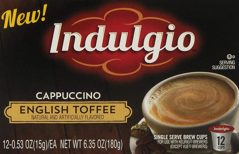Indulgio Cappuccino, White Chocolate Caramel, 12-Count Single ...