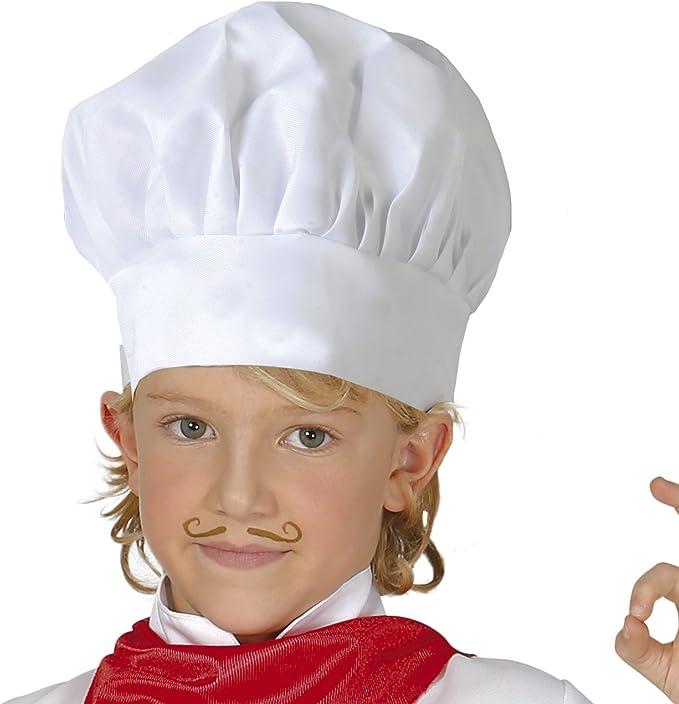 Guirca- Gorro cocinero infantil tela, u (13010.0): Amazon.es ...