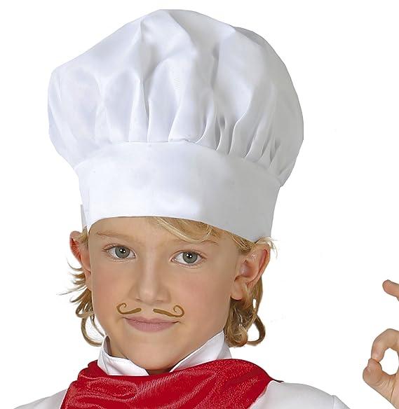 Guirca Gorro cocinero infantil tela u 13010.0  Amazon.es  Juguetes y juegos ff9e87d87ba