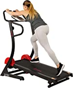Sunny Health & Fitness Manual Treadmill with 16 Levels of Magnetic
