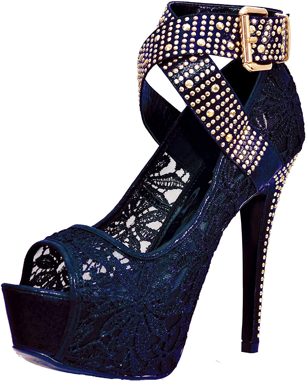 Womens Ladies High Leg Lace Up Zip Black Blue Floral Boots Memory Foam Size 3-9