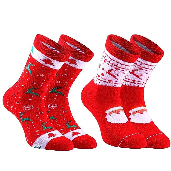 Andake Calcetines de Navidad, calcetines térmicos para hombres y ...