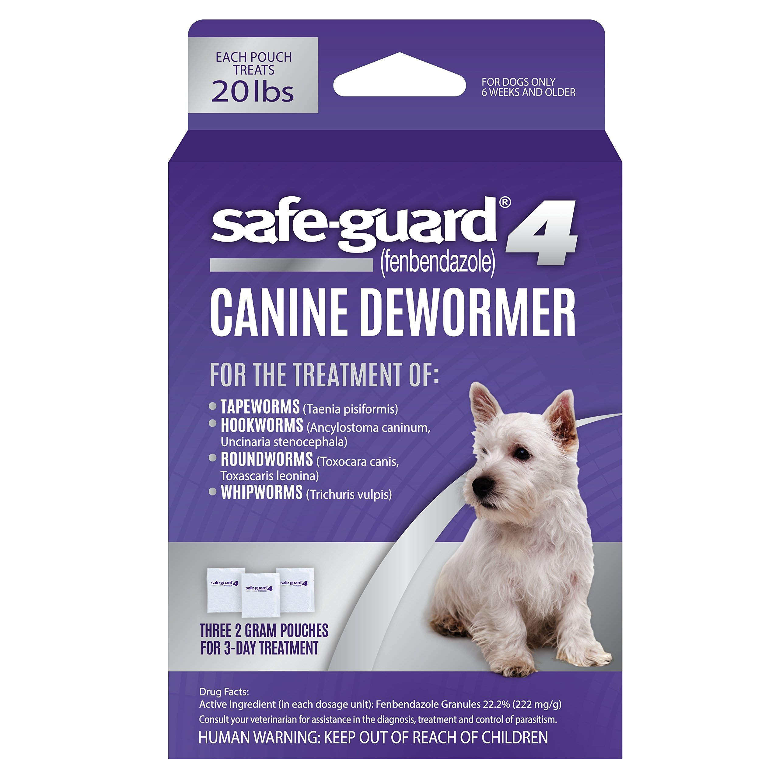 Excel Safe-Guard 4, Canine Dewormer for Dogs, 3-Day Treatment by Excel