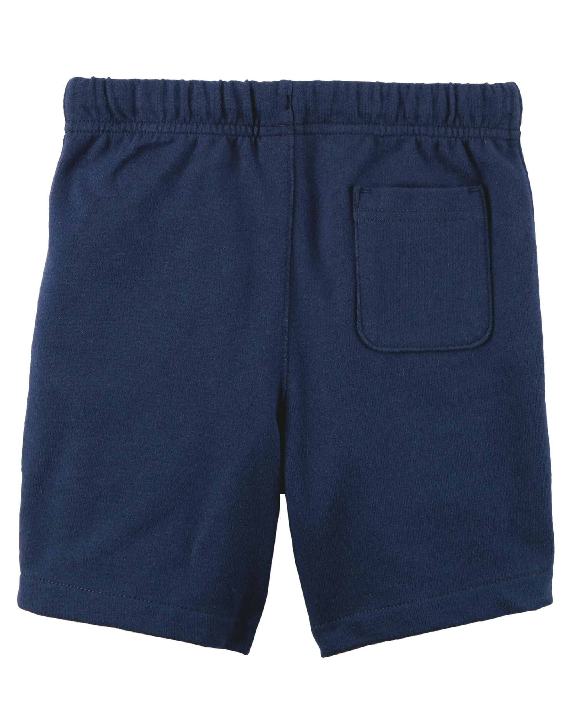 Carter's Set of 2 Boy's Cotton Pull On Shorts Toddler Little and Big Boys (5T, Dark Grey and Navy Blue) by Carter's Baby Clothing (Image #3)