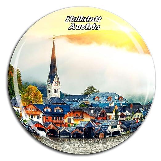 Weekino Hallstatt Austria Imán de Nevera Cristal de Cristal 3D ...
