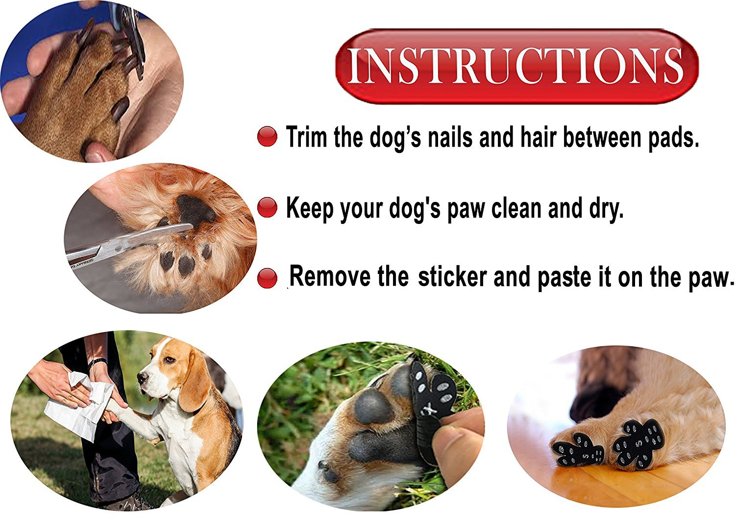 Bro Disposable Self Adhesive Dog Paw Protector Pads, Breathable ...