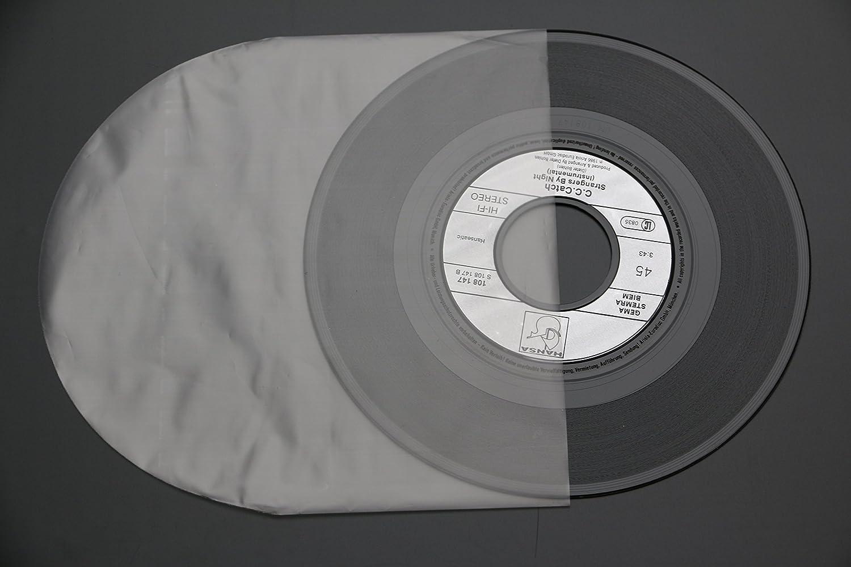 50 St/ück original Single Japan innen H/üllen 7 Inch 180x180 mm halbrund