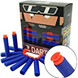 "EKIND 100Pcs ""Suction"" Darts For Nerf N-strike Elite Blaster (Blue)"