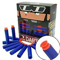 "EKIND 100Pcs ""Suction"" Darts For Nerf N-strike Elite Blaster (Blue)"