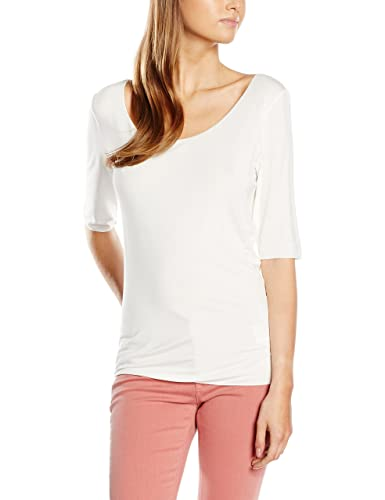 Tommy Hilfiger Jada Ballerina Top 1/2 Slv-Jersey deportivo Mujer    Bianco (Snow White 118) L