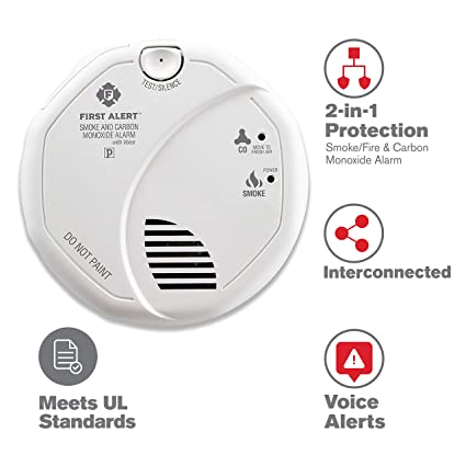 First Alert Hardwired Talking Photoelectric Smoke and Carbon Monoxide Detector, BRK SC7010BV