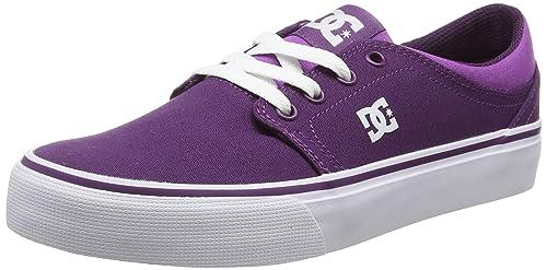 DC Shoestrase TX J Shoe - Zapatillas Mujer, Color Morado, Talla 37.5