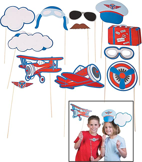 Air Travel Photo Booth Props for Parties SALE