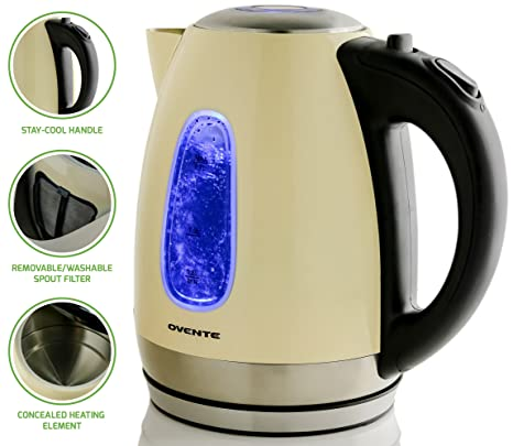Amazon.com: Ovente. Hervidor de agua eléctrico de ...