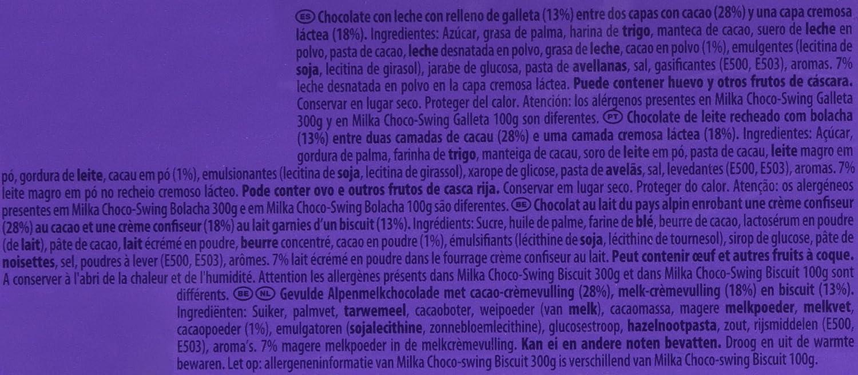 Milka Choco-Swing Tableta de Chocolate y Galleta con Leche - 300 g: Amazon.es: Amazon Pantry