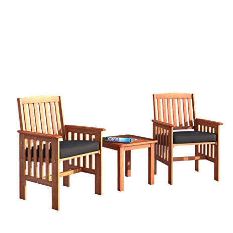 Genial CorLiving PEX 864 Z Miramar 3 Piece Hardwood Outdoor Chair And Side Table  Set