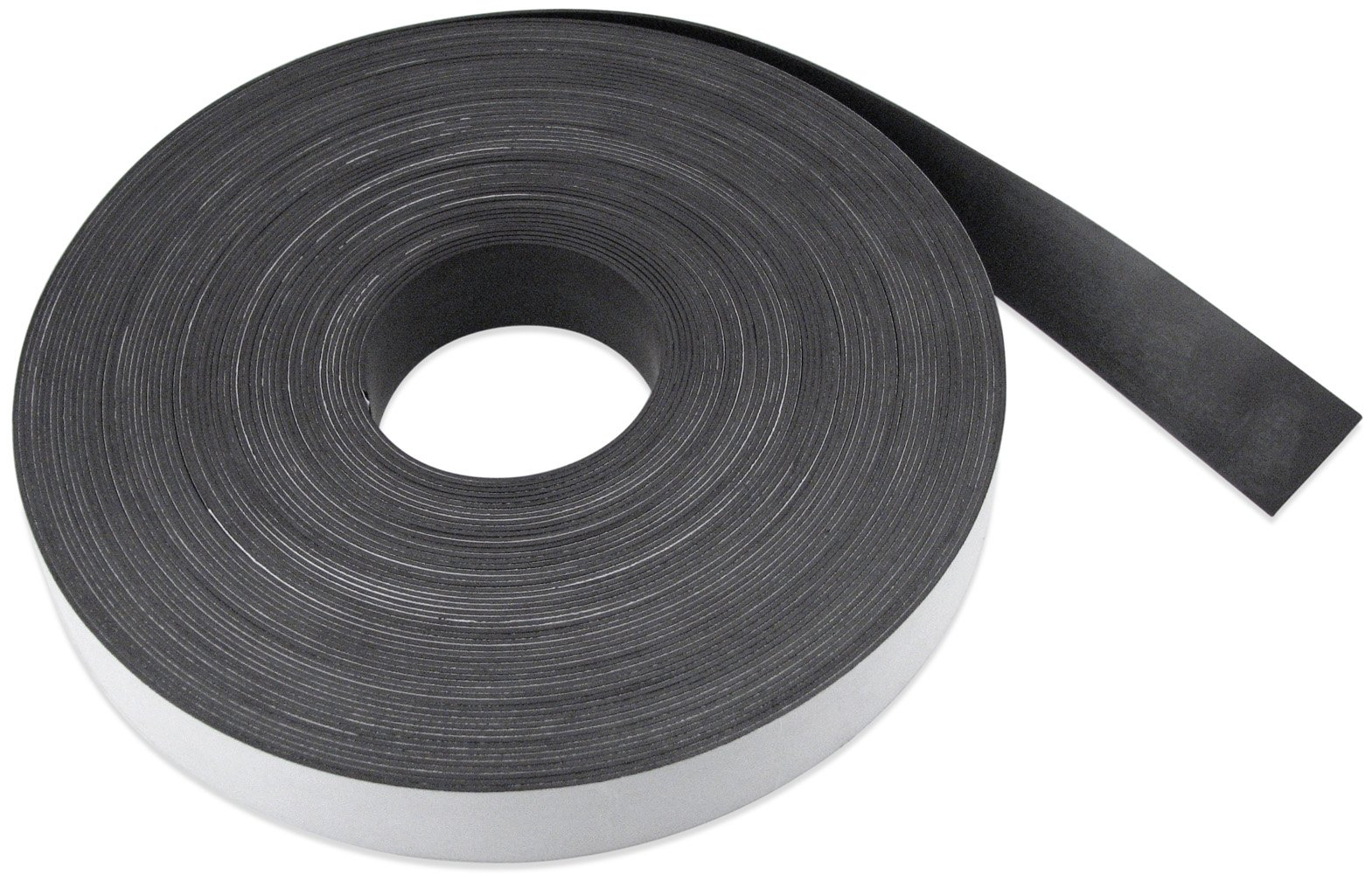 Flexible Magnet Strip with White Vinyl Coating, 1/32'' Thick, 2'' Height, 200 Feet, 1 Roll