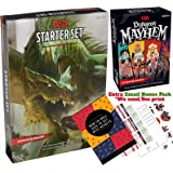Dungeons and Dragons 5th Edition Starter Set - Dungeon Mayhem Card Game - D&D 5e Dungeons and Dragons Starter Kit Fifth Edition - DND 5e Beginner Board Game Gift Set with Complete Starter Kit