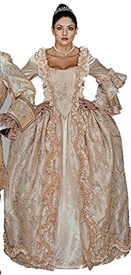 Amazon.com  Deluxe Champagne Marie Antoinette Gown Costume- Theatrical  Quality  Clothing e346289ccc0