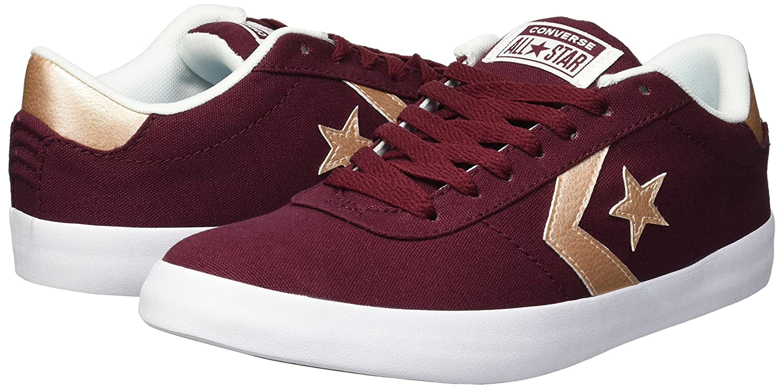 Converse Women's Point M Star Low Top Sneaker B07CR7Z1J5 6.5 M Point US Dark Burgundy/White/Peach f20e0b