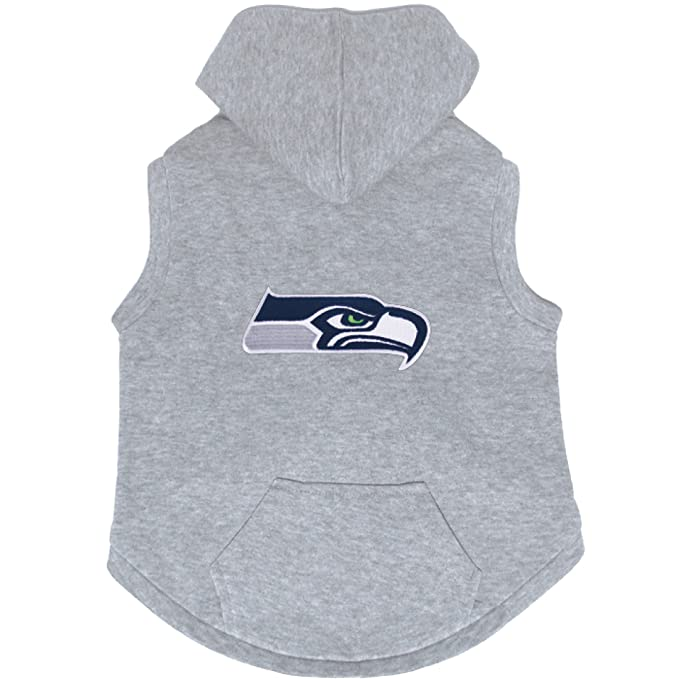 c9a4e38f8 Amazon.com   Seattle Seahawks Premium Dog Pet Sleeveless Hoodie Sweatshirt  Embroidered Patch LARGE   Sports   Outdoors