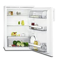 AEG RTB81521AW Kühlschrank mit Glasablagen / freistehender Kühlschrank ohne Gefrierfach / 150 Liter Kühlraum / Abtauautomatik / energieeffizienter Kühlschrank der Klasse A++ (94 kWh/Jahr) / abgerundetes Design / Höhe: 85 cm / weiß