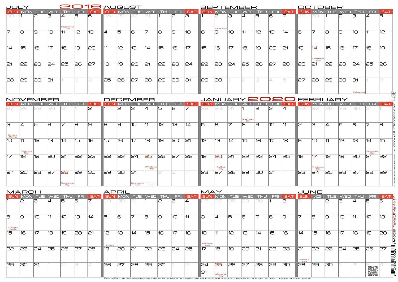 2020 Annual Calendar.Amazon Com Jjh Planners Laminated 24 X 17 Medium Academic
