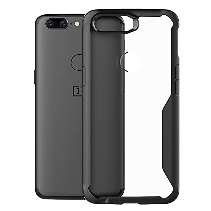 brand new 8e097 7238d Bounceback ® Robust Series Oneplus 5t Case Shock Proof Anti Slip  Transparent Soft TPU Back Cover for OnePlus 5t One Plus 5t 1+ 5t (Charcoal  Black)