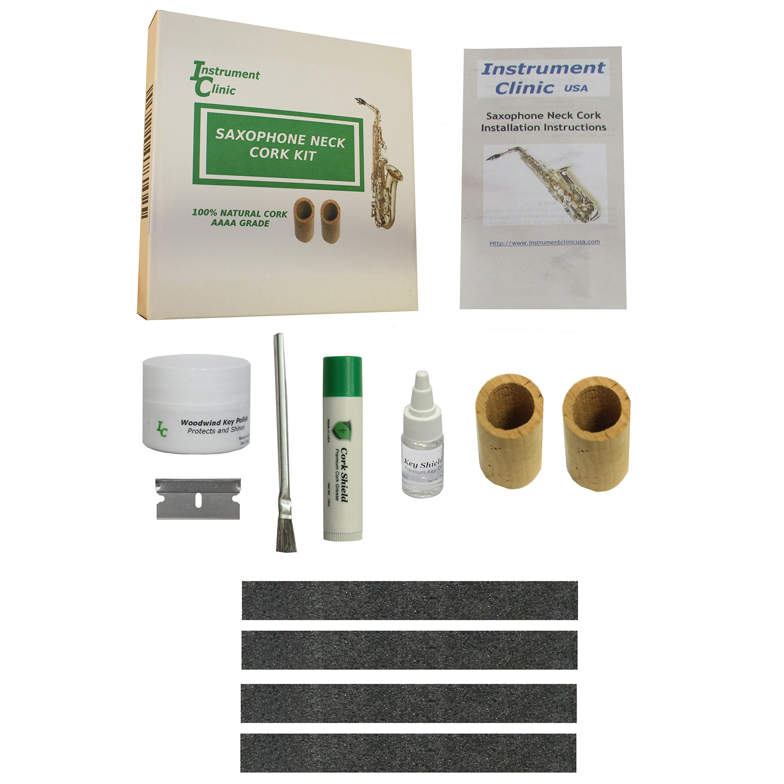Instrument Clinic Seamless Alto Saxophone Cork Kit, Maintenance Items