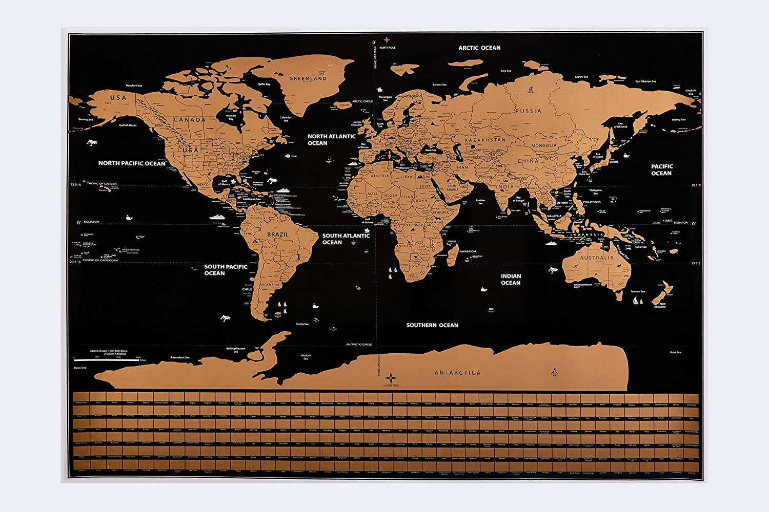 Amazon bosa world world scratch off map travelers map of amazon bosa world world scratch off map travelers map of all united states and countries with scratch pen brush bag fun way to track gumiabroncs Image collections