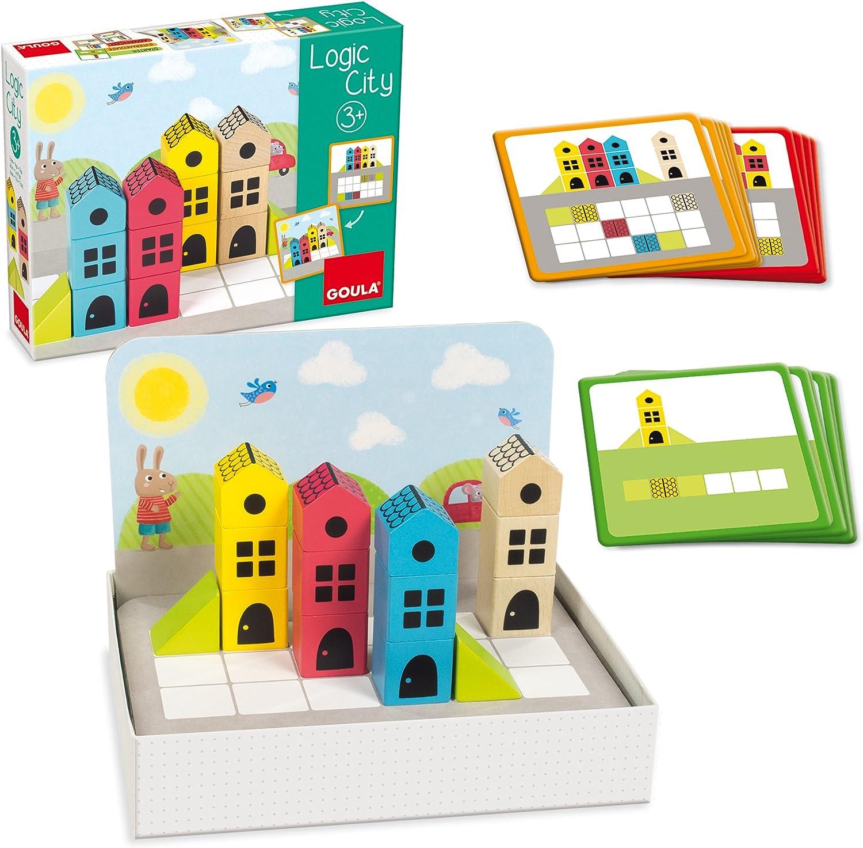 Goula- Construcción Madera Ciudad 14 pzas Puzzle Logic City (50200 ...